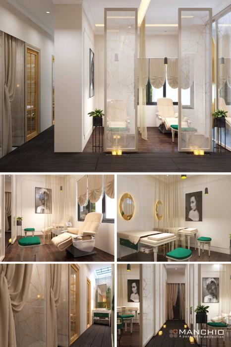 Dự án thiết kế nội thất spa tại Long Biên Hà Nội