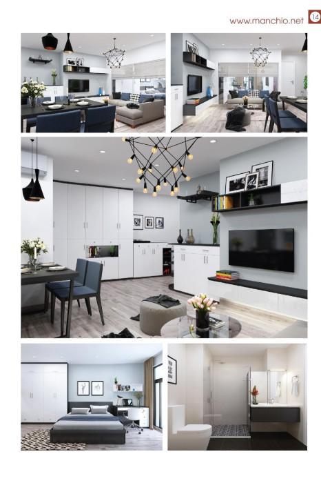 Thiết kế nội thất căn hộ Gemek Tower