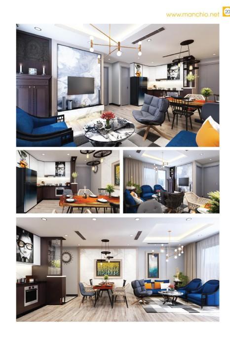 Thiết kế căn hộ 2502 Royal City ( chị Ngân )
