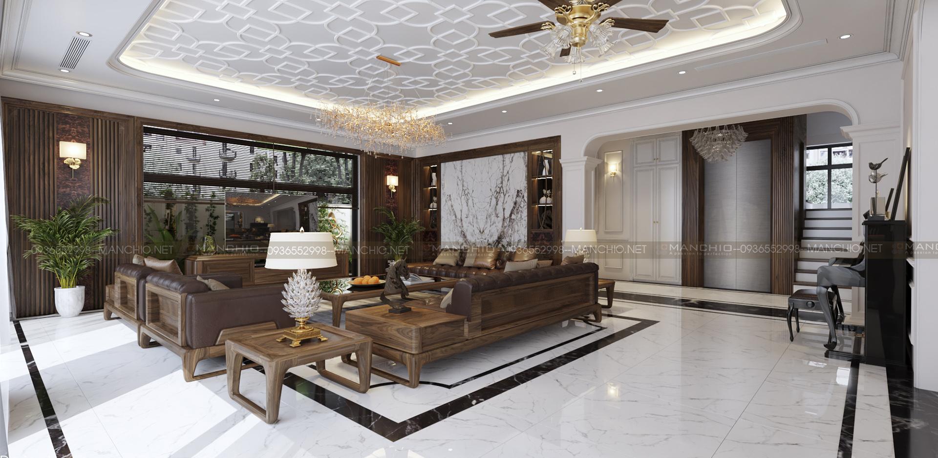 Thiết kế nội thất biệt thự Harmony Vinhomes Riverside - Gia Lâm- Hà Nội