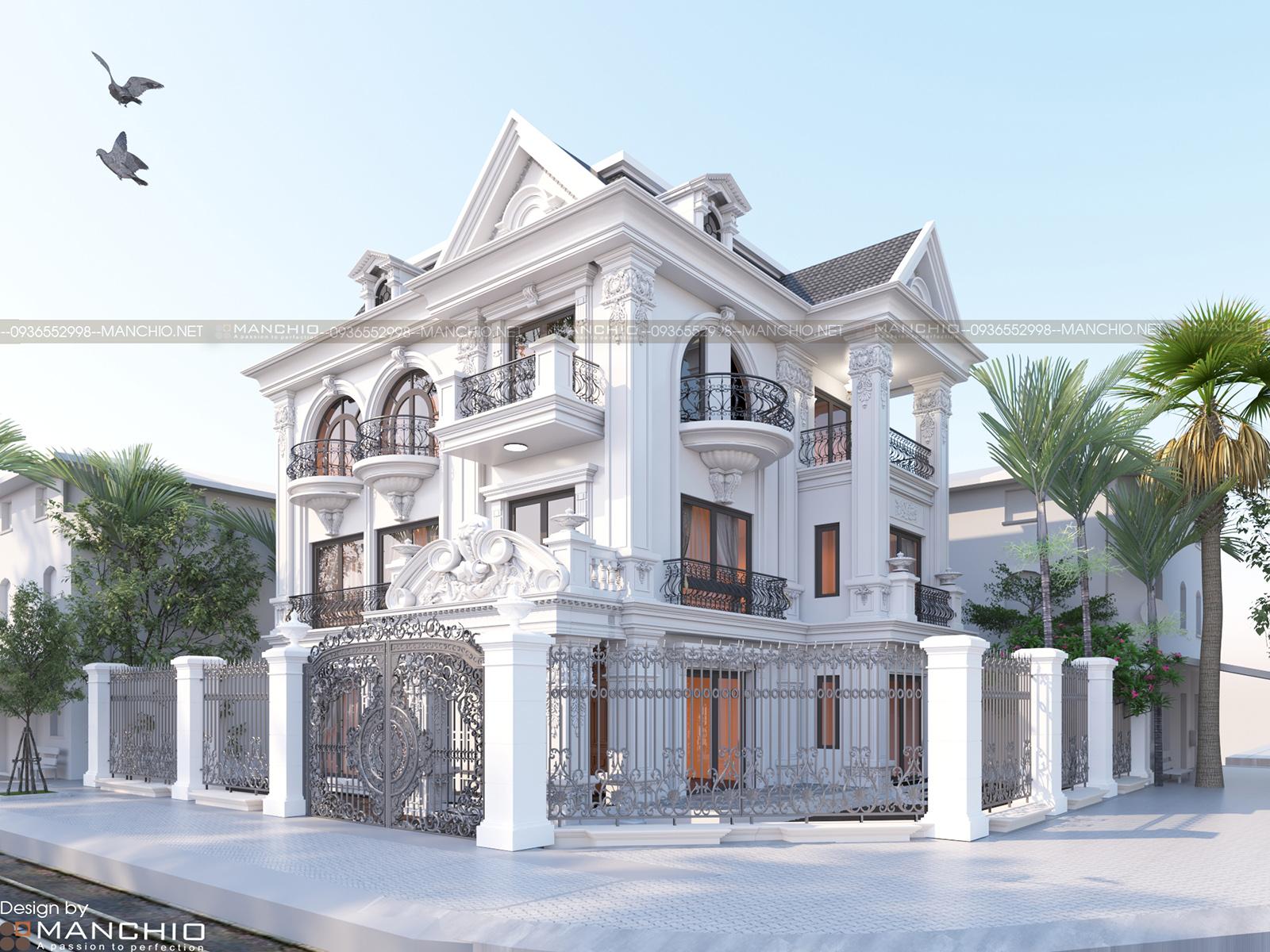 Thiết kế kiến trúc Biệt thự Harmony Vinhomes - Manchio.net