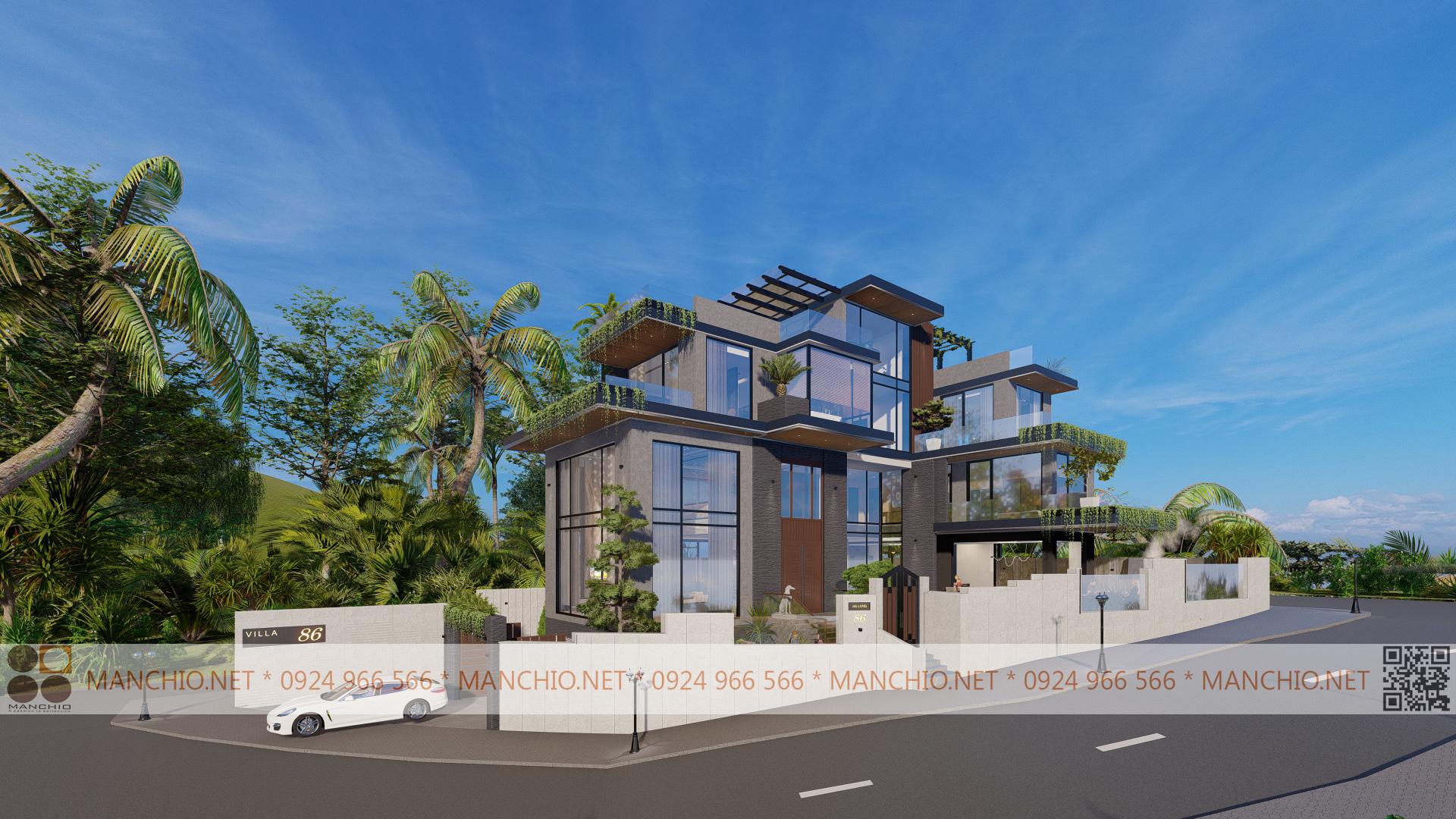 Thiết kế kiến trúc Biệt thự biển - Manchio.net