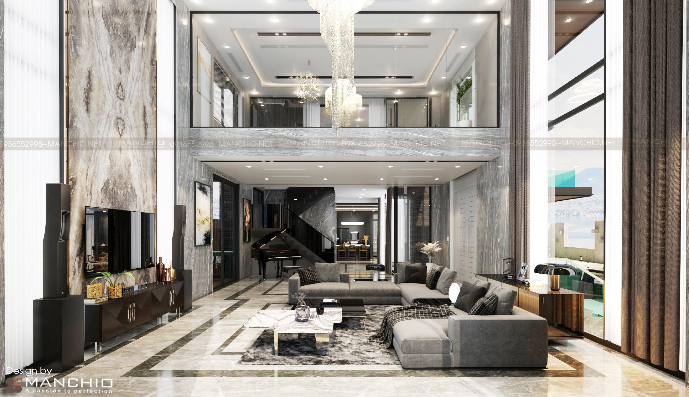Thiết kế nội thất biệt thự cao cấp