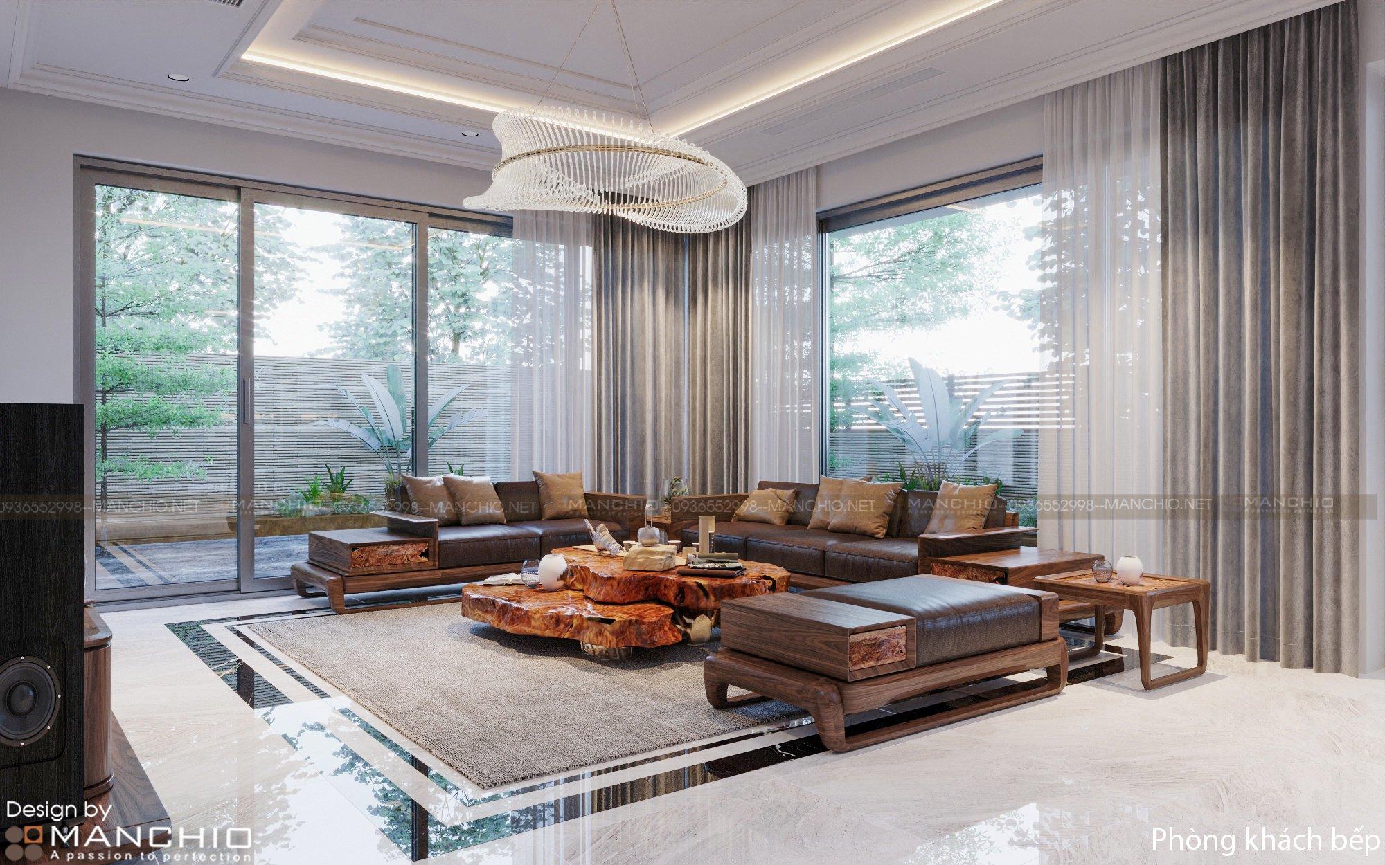 Thiết kế nội thất Biệt thự Dương Nội nhà chị Ngọc