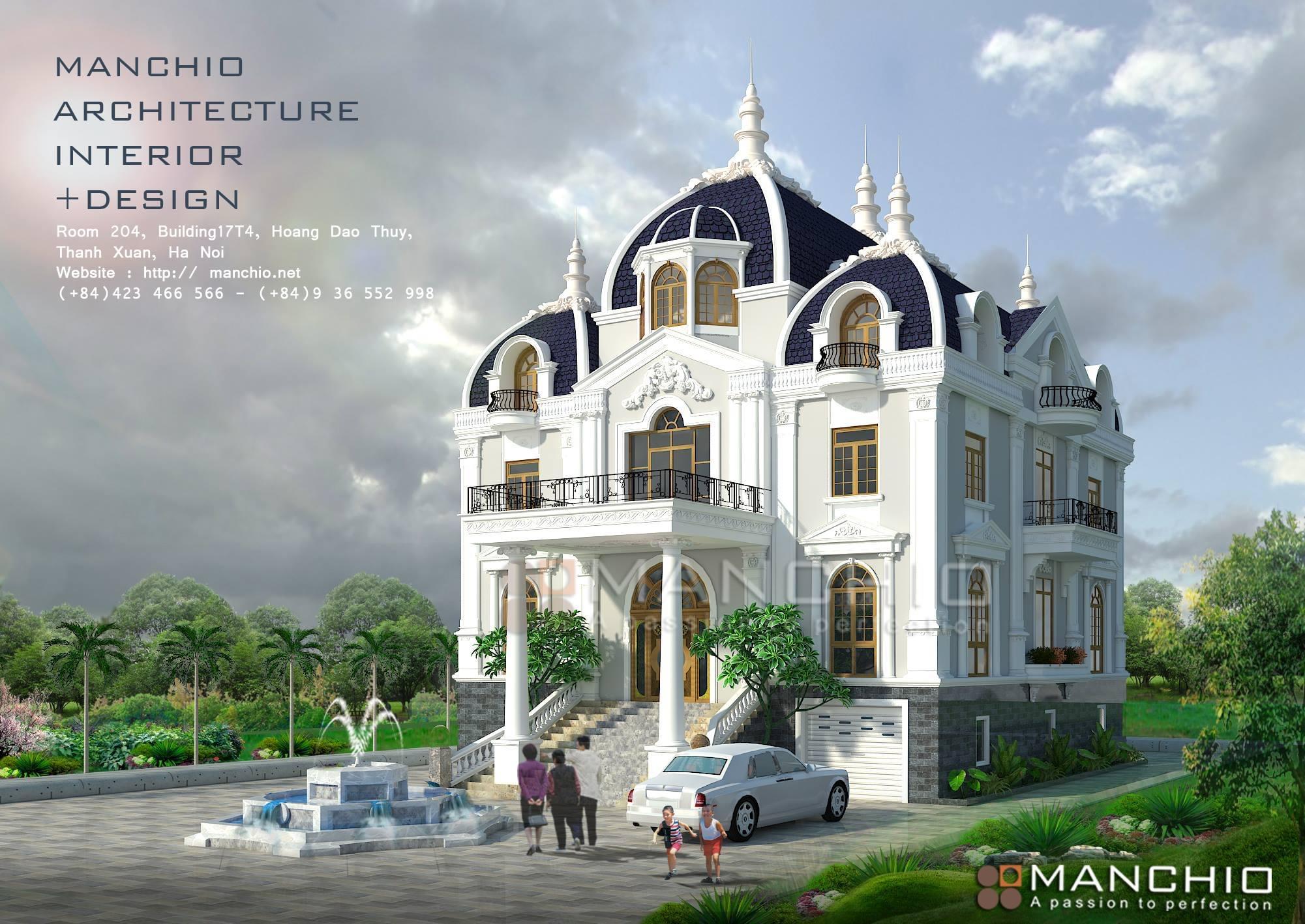 Kiến trúc Biệt thự phong cách cổ điển